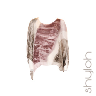 Silk Tie Dye Dolman Sleeve Top
