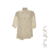 Short Sleeve Lace Cardigan w/ Matching Tank Top