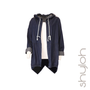 Denim Hooded Duster