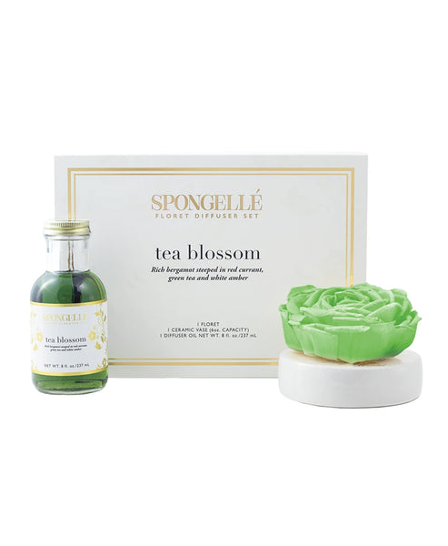 Zoom view for Spongelle Tea Blossom Diffuser Set 8 fl oz. A