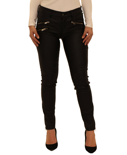 Low Rise Coated Skinny Jean