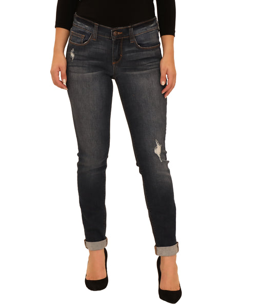 Low Rise Skinny Distressed Jean