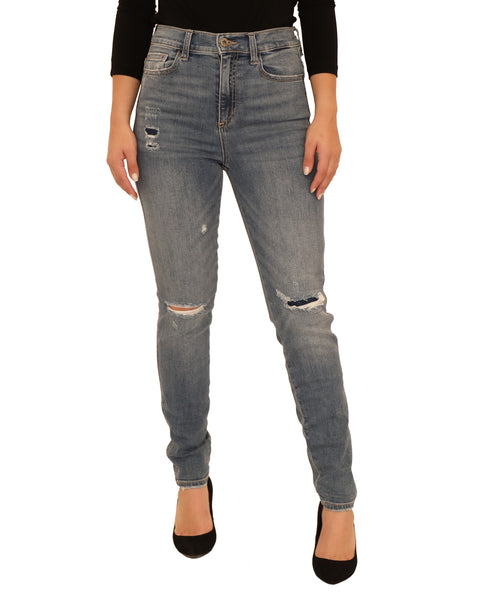 High Rise Skinny Distressed Jean