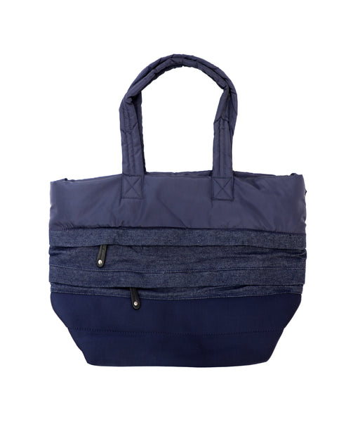 Zoom view for Large Puffer Tote Material Mix 4 pc Set