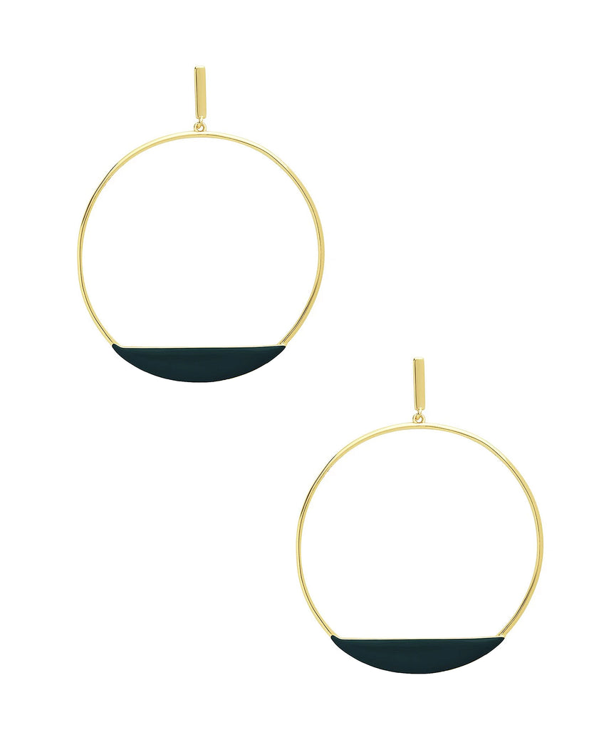 Circle Stud Hoop Earrings - Fox's