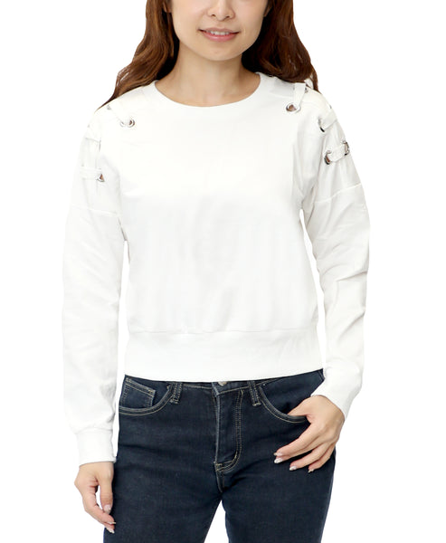 Zoom view for Grommet Lace Up Crop Top