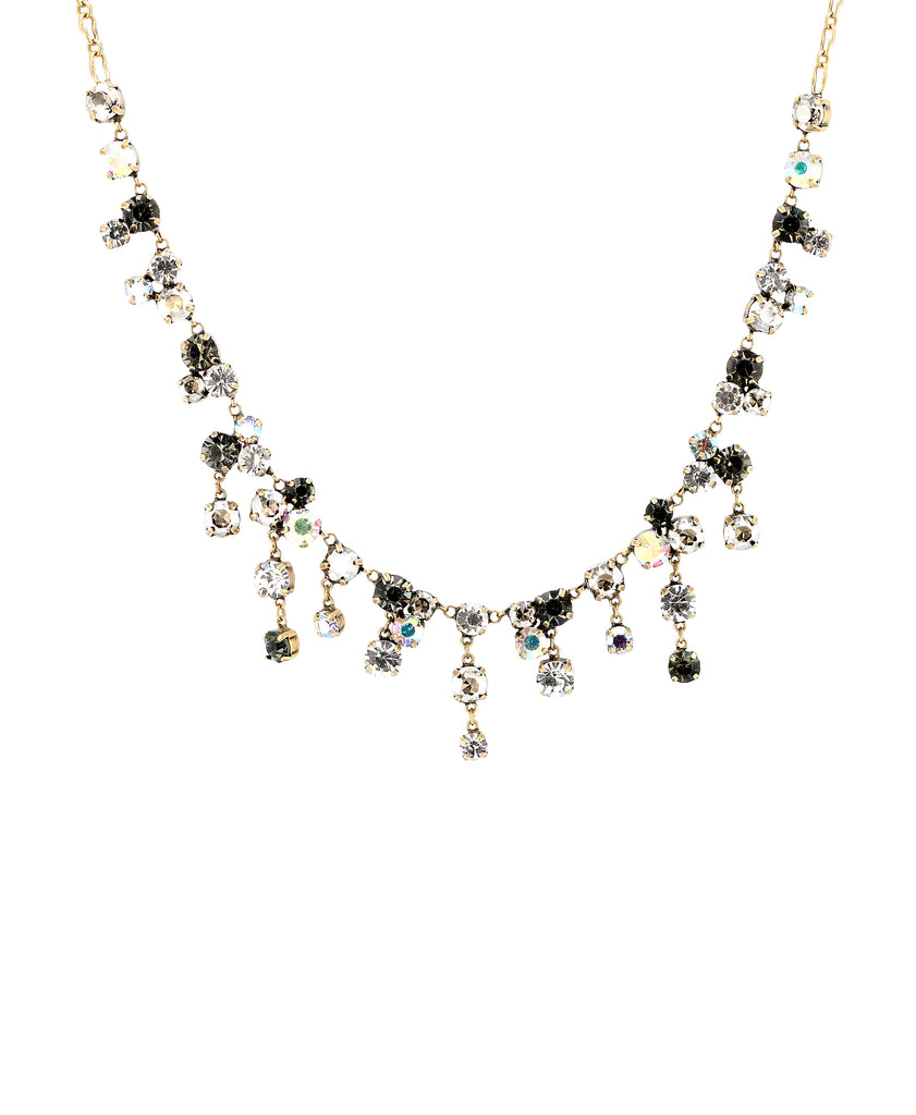 Rhinestone Necklace w/ Dangles
