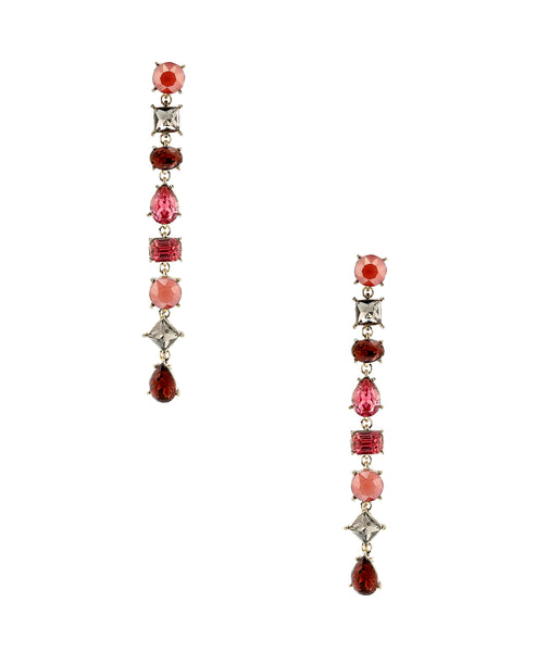 Zoom view for Long Drop Earrings w/ Rhinestones