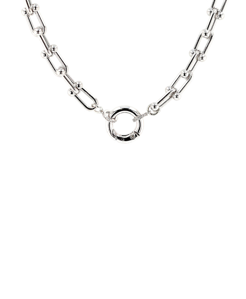 U-Chain Link Necklace w/ Spring Jump Ring