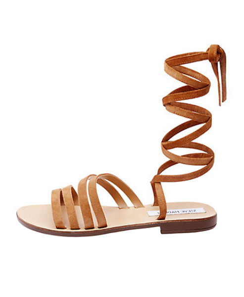Zoom view for Suede Strappy Ankle Wrap Sandal