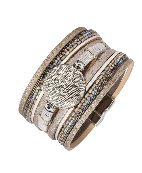 Zoom view for Multi Strand Leather Bracelet A