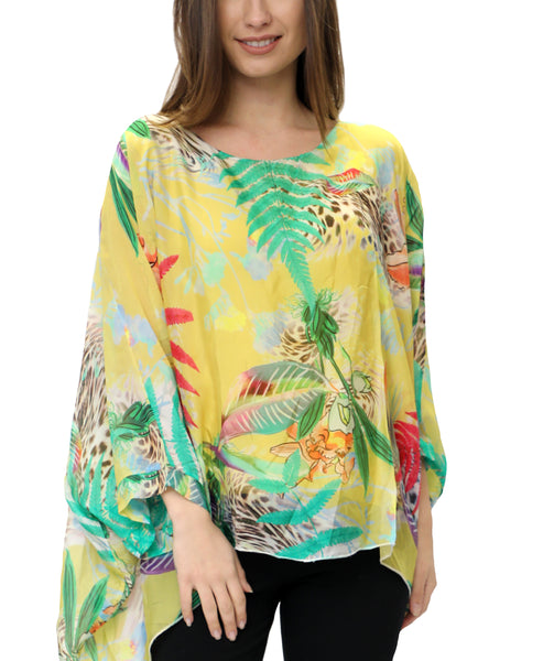 Zoom view for Silk Floral Print Blouse