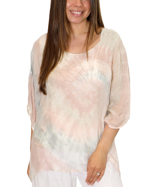 Zoom view for Silk Layer Tie Dye Tunic