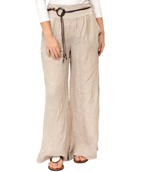 Zoom view for Linen Wide Leg Pants A