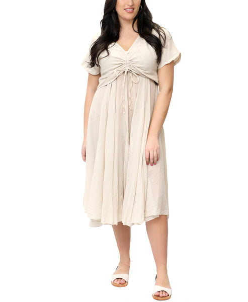 Zoom view for Popover Linen Dress- 2 Pc. Set A