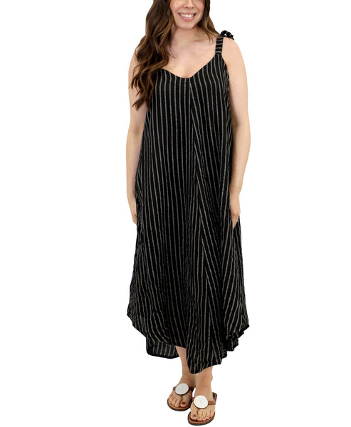 Zoom view for Linen Stripe Dress A