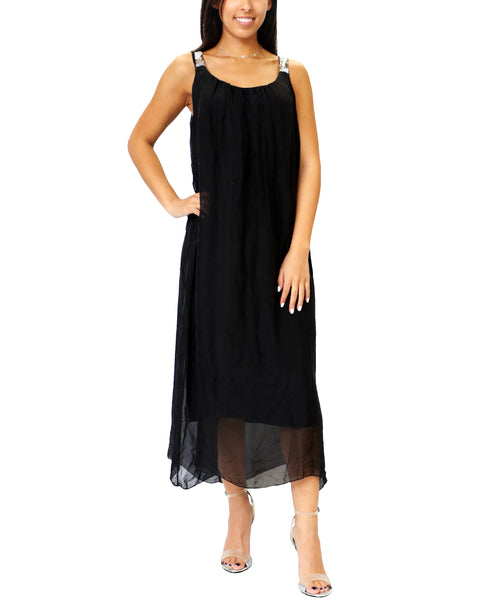 Zoom view for Silk Maxi Dress A