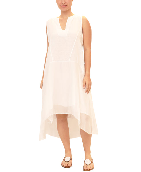 Linen & Silk Hi-Lo Dress