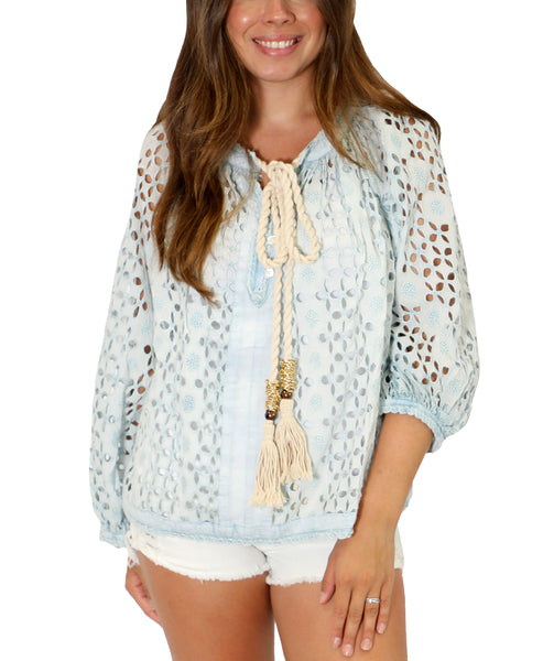 Zoom view for Cotton Eyelet Blouse A