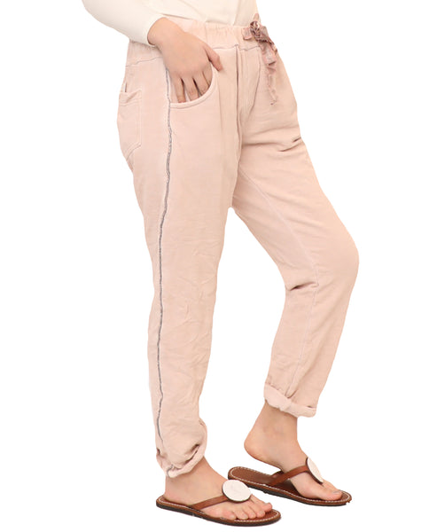 Jogger Pant w/ Lurex Side Detail