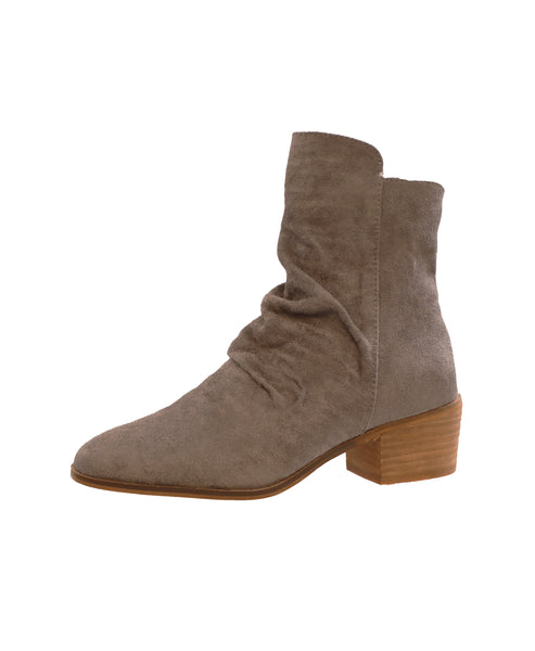 Faux Suede Ruched Bootie - Fox's