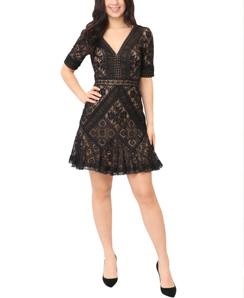 Fit & Flare Lace Dress - Fox's