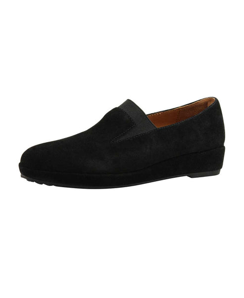 Suede Wedge Loafer