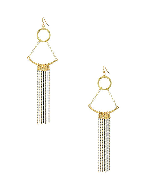Chandelier Earrings w/ Chain - Fox's