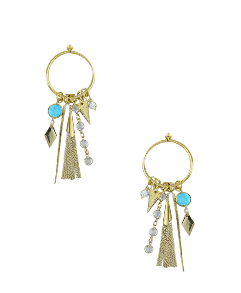 Drop Hoop Dangle Earring