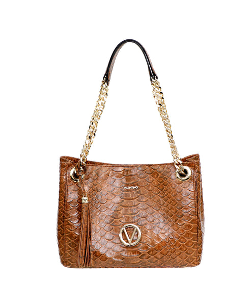 Zoom view for Embossed Leather Shoulder Bag