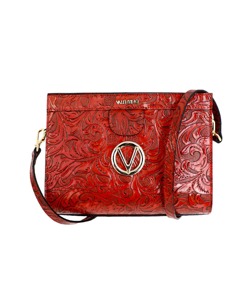 Zoom view for Leaves Embossed Leather Crossbody