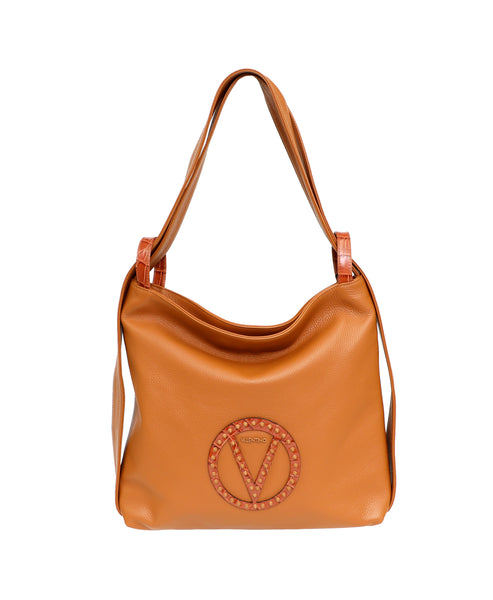 Zoom view for Leather Convertible Hobo Backpack