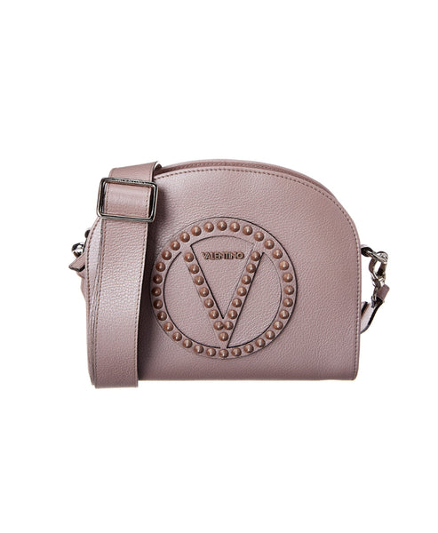 Zoom view for Leather Logo Crossbody Bag w/ Studs