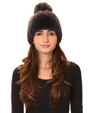 Mink Hat w/ Fox Fur Pom - Fox's