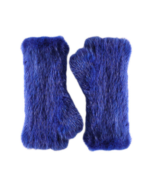 Mink Fur Fingerless Gloves - Fox's
