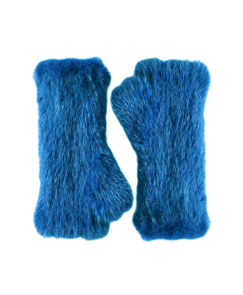 Mink Fur Fingerless Gloves