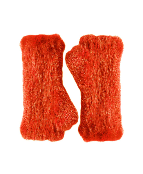 Zoom view for Mink Fur Fingerless Gloves A