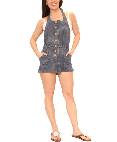 Zoom view for Striped Halter Romper