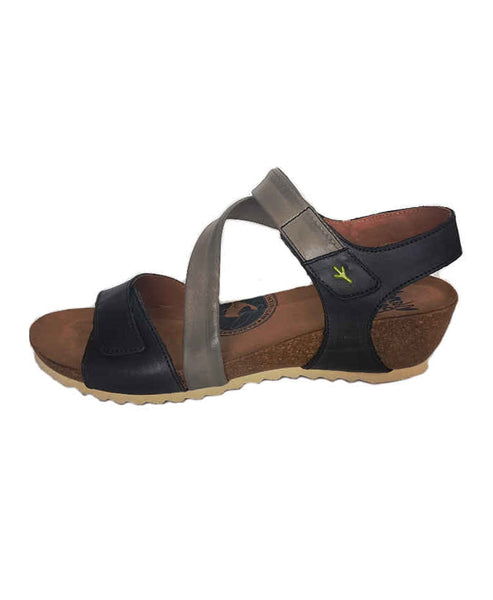 Strappy Leather Comfort Sandal