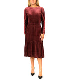 Ribbed Velour Dress w/ Lurex
