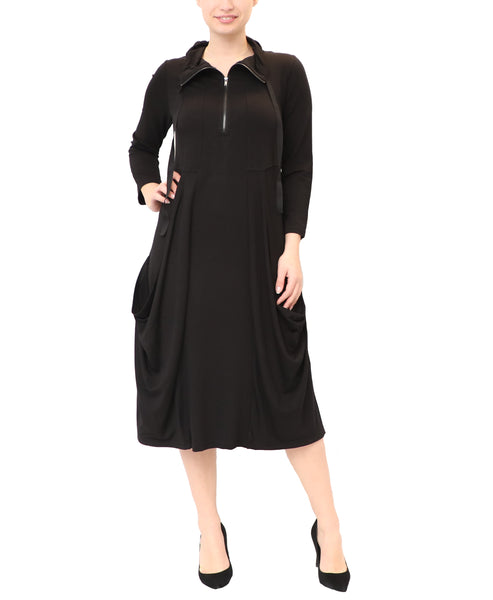 Dress w/ Draped Pockets