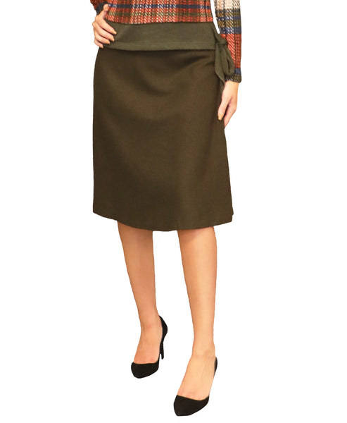 A-Line Wool Skirt - Fox's