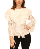 Lace Top w/ Ruffles - Fox's