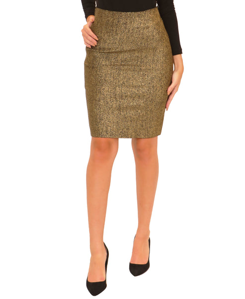 Bodycon Lurex Pencil Skirt