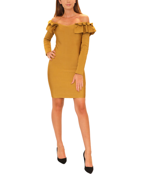 Off The Shoulder Bodycon Bandage Dress