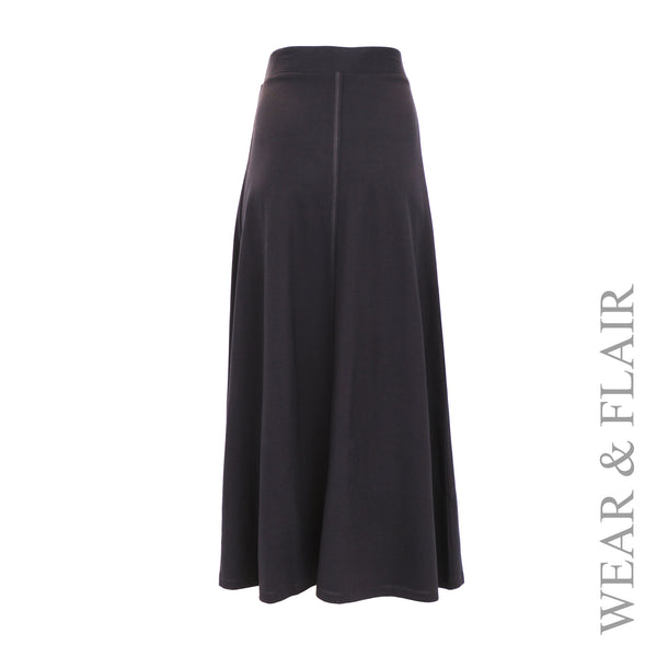 Fit & Flare Maxi Skirt
