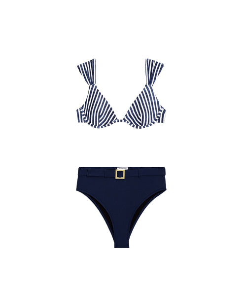 Zoom view for Stripe Print 2 pc Bikini