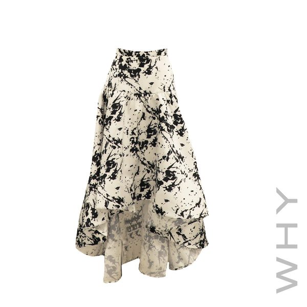 Printed Hi-Lo Skirt