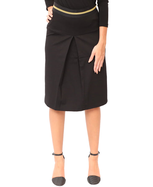 Skirt w/ Center Pleat