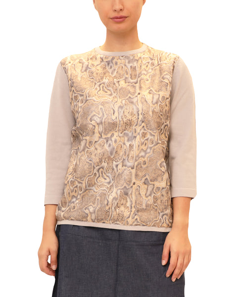 Lightweight Sweater w/ Snake Print